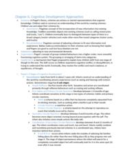 Psychology 2410A/B Chapter Notes - Chapter 6: Number Sense, Lev Vygotsky, Object Permanence