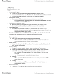 QMB 3301 Lecture Notes - Lecture 2: Goal Programming, Marginal Cost, Nonlinear Programming
