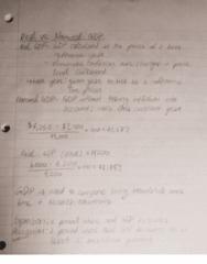 ECON 2105H Lecture 7: Economic Measures