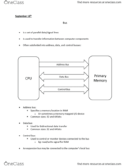 CPSC 355 Lecture Notes - Lecture 3: Hard Disk Drive, Control Bus, Address Bus