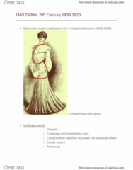 FMD 250 Lecture Notes - Lecture 12: Corset