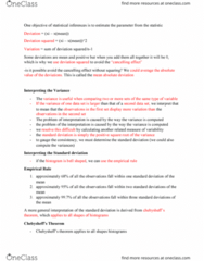 MGMT 1050 Study Guide - Midterm Guide: Standard Deviation, Level Of Measurement, Percentile