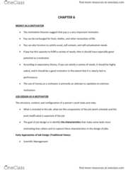 COMM 222 Chapter Notes - Chapter 6: Motivation, Highscope, Job Performance