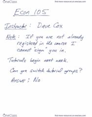 ECON 105 Lecture 1: Econ105SP17 Lecture 1