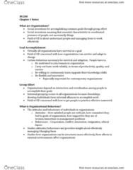BU288 Chapter Notes - Chapter 1: Corporate Social Responsibility, Human Relations Movement, Hawthorne Effect