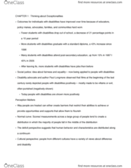 SPED 08130 Chapter Notes - Chapter 1: Autism Spectrum, Universal Design, Intellectual Disability