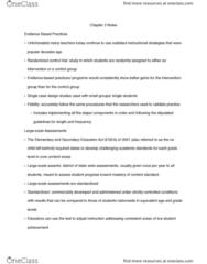 SPED 08130 Chapter Notes - Chapter 2: Instructional Scaffolding, Universal Design, Behavior Management
