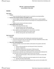 KNES 260 Study Guide - Midterm Guide: Pulmonary Circulation, Mitral Valve, Pulmonary Artery