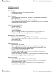 WGS200Y5 Lecture Notes - Lecture 2: Indian Act, Intersectionality, National Academy