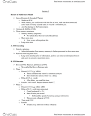 PSYC 2700 Lecture Notes - Lecture 5: Memory Span, Groot, Air Traffic Controller