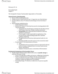 PSYC 2740 Chapter Notes - Chapter 9: Oedipus Complex, Mental Disorder, Weaning