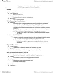 KNES 260 Study Guide - Midterm Guide: Vasodilation, Vasoconstriction, Central Chemoreceptors