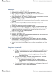 SHA HF 120 Chapter Notes - Chapter 2: Magnetic Stripe Card, Brunoise, Hazard Analysis And Critical Control Points