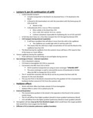 BIOL 3070 Lecture Notes - Lecture 9: Haldane Effect, Ion Exchange, Bicarbonate