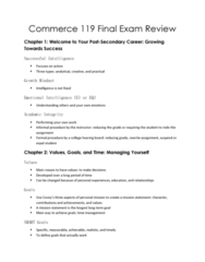 COMM 119 Study Guide - Final Guide: Practical Action, Chartered Accountant, Operations Management