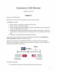 COMM 101 Midterm: Commerce 101 Review