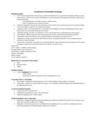 PSYC 2740 Lecture Notes - Lecture 4: Justin Trudeau, Nomothetic, Human Nature