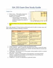 ISA 235 Final: ISA 235 Exam 1 Study Guide