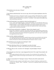 ENGL 1101 Lecture 24: 1984 Study Guide Book 2