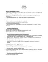 FSN 223 Lecture 5: FSN 223 Lecture Notes Week 5