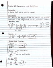 PHY 223 Lecture 5: Chapter 24 Capacitance and Dielectrics