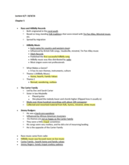 MUSI 102 Lecture Notes - Lecture 7: Charley Patton, Bessie Smith, Slide Guitar