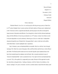 ENGL 91C Midterm: Jane Eyre
