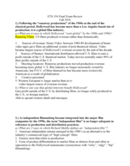 ETS 154 Study Guide - Final Guide: Second-Wave Feminism, Molly Haskell, Miramax