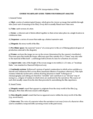 ETS 154 Chapter Notes - Chapter Vocabulary: Eyeline Match, Slow Motion, Americain
