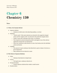 CHEM 130 Chapter 6: Chapter 6