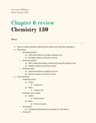 CHEM 130 Chapter Notes - Chapter 6: Reducing Agent, Oxidizing Agent, Strong Electrolyte