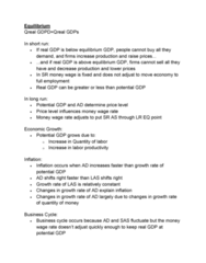 ECON 2105H Study Guide - Midterm Guide: World Economy, Output Gap, Business Cycle