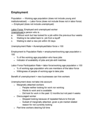 ECON 2105H Study Guide - Midterm Guide: Discouraged Worker, Frictional Unemployment, Full Employment