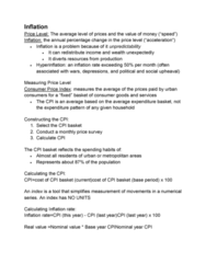 ECON 2105H Study Guide - Midterm Guide: Cd Player, Core Inflation, Typewriter