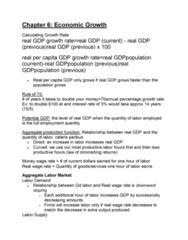 ECON 2105H Study Guide - Midterm Guide: Human Capital, Physical Capital, Ceteris Paribus