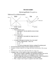 HON 1302 Lecture Notes - Lecture 11: Marginal Revenue, Perfect Competition, Marginal Cost