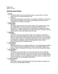 ENGL 153 Lecture Notes - Lecture 17: Historical Criticism, Ad Hominem, False Dilemma