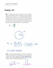 PHYSICS 7D Chapter Notes - Chapter 29: Faraday'S Law Of Induction, Electric Field
