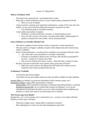 PSYC 3100 Lecture Notes - Lecture 14: Pair Bond, Parental Investment
