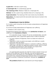 PHIL 1200 Lecture Notes - Lecture 1: Arthur Schopenhauer, Theism, Axiology