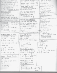 EC 301 Midterm: Exam #2 Cheat Sheet