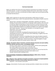 ENC-3021 Study Guide - Final Guide: Panopticon, Signify, Freethought