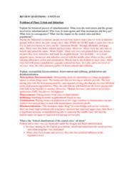 SOC 102 Study Guide - Final Guide: Urban Density, Deindustrialization, Automobile Dependency