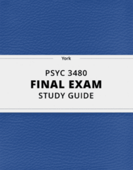 [PSYC 3480] - Final Exam Guide - Comprehensive Notes fot the exam (412 pages long!)