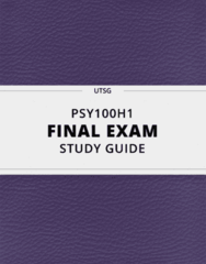 [PSY100H1] - Final Exam Guide - Ultimate 1120 pages long Study Guide!