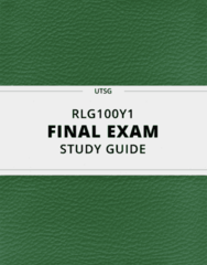 [RLG100Y1] - Final Exam Guide - Comprehensive Notes fot the exam (540 pages long!)