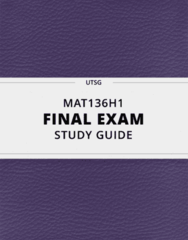 [MAT136H1] - Final Exam Guide - Comprehensive Notes fot the exam (38 pages long!)