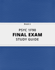 [PSYC 1F90] - Final Exam Guide - Comprehensive Notes fot the exam (49 pages long!)