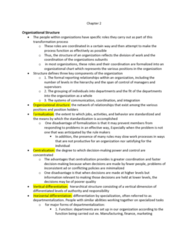 SOC361H5 Chapter Notes - Chapter 2: Sociotechnical System, Organizational Chart, Process Function