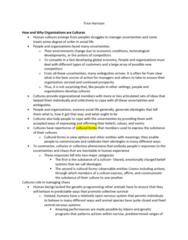 SOC361H5 Chapter Notes - Chapter 1: Organisation Climate, Ethnocentrism, Hawthorne Effect